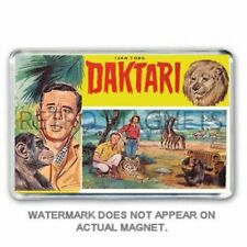 RETRO 1960's TV DAKTARI - JIGSAW PUZZLE BOX ART JUMBO FRIDGE  MAGNET