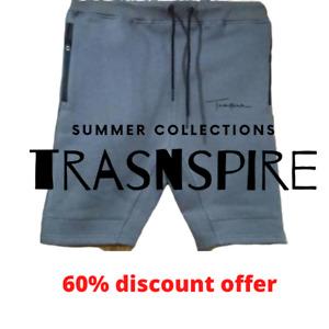 Mens Fleece Shorts Elasticated Waist Zip Pockets Sports & Gym Yoga Pants