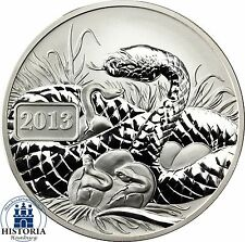 Pacific series: Lunar Snake Silver Ounce Tokelau 5 $ 2013 reverse proof coin