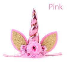 Baby Girls Pink Unicorn Horn Head Party Hair Headband Fancy Dress Accessory