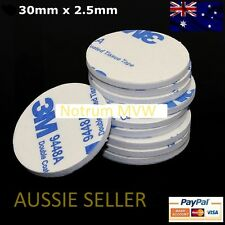 2x 3M White Round Double Sided Tape Foam Mounting Pad 30 x 2.5mm Strong Adhesive
