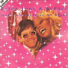 CD single Elton JOHN & Ru PAUL - France GALLDon't go breaking my heart 2-track