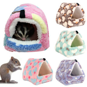 Pet Cat Dog Nest Bed Puppy Soft Warm Cave House Winter Sleeping Kennel Hamster