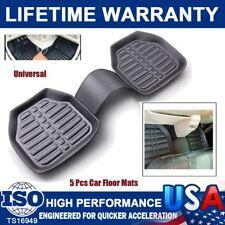 5Pcs Motor Trend Deep Dish Rubber Floor Mats & Cargo Set  Black All Weather Mats