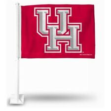 """Houston Cougars NCAA Car Window Mount Double-Sided Logo Flag Red 11 x 14"""""""