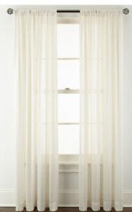 Royal Velvet Cherise Rod Pocket Sheer Panel 50 W x 84 L Ivory