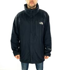 Men's The North Face Hyvent Rain Jacket With Hood In Black Size UK Large