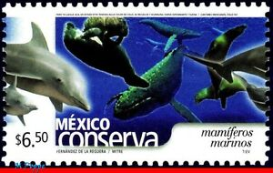 2421 MEXICO 2005 CONSERVATION, MARINE MAMMALS, DOLPHIN, WHALE, (6.50P), MNH
