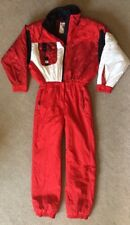 Vtg 80s 90s KAELIN Sz 10 One Piece Ski Womens Snowboarding Snow Suit 5024 Red