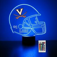 Virginia Cavaliers Personalized Night Light Lamp NCAA College Football Gift LED