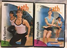 2 Cathe workout exercise fitness DVD lot body fusion high step circuit aerobics