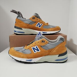 New Balance 991 Curry M991YBG Made In England New With Box Suede Mens Size 12