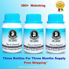Dr James Glutathione - Skin Whitening Pills - 3 Bottles