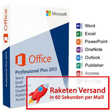 MS Microsoft Office 2013 Professional Plus | Versione completa originale business | PRO