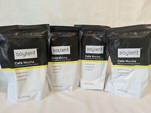 Lot of 4  SOYLENT Cafe Mocha Powdered Food Complete Meal Formula v1.9 15.8oz