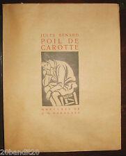 JULES RENARD POIL DE CAROTTE DARAGNES 1939 TEXTES ET PRETEXTES