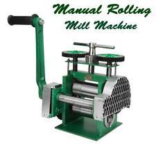 "3""(80mm) Combination Rolling Mill Machine Metal Sheet Wire Jewelry Making Press"