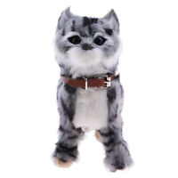 Walking Meow Electronic Cat Child Plush Soft Toy Stuffed Toys for Kids Grey