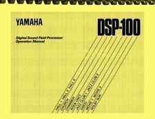 Yamaha DSP-100 Digital Sound Field Processor OWNER'S OPERATION MANUAL