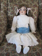 """Antique German Bisque Head Doll w/ Jointed Composition Body ~ 23"""" Tall"""