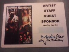 Busta Rhymes Rare Unused Backstage Pass