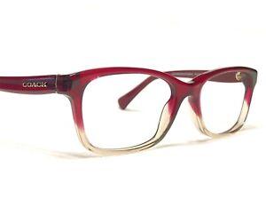 Coach HC6089 5484 Women's Red Gradient Fade Rx Designer Eyeglasses Frames 51/16