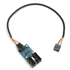 Motherboard USB 9P 9Pin Header Splitter 1 to 2 Extension Cable Port Multiplier
