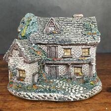 "Vintage Ron Gordon Designs Lighted Old English Cottage 1986 4"" x 5"" (Works!)"