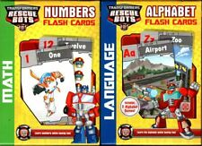 Hasbro Transformer Rescue Bots Flash Cards - Numbers, Alphabet - PreK-K Set 2