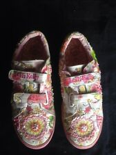 Lelli Kelly Sneakers (Floral Beaded) Size 37eu/ 5- HTF Larger Size