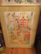 Framed Print The Red Chair by Lydia Kemeny Vintage 1968