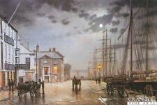 Maritinme, Dock, landscape art print Poole Quay, Rodney Charman, rare