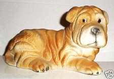 """Adorable High Quality Ceramic SHAR PEI Dog 6 1/2"""" W x 4"""" H"""