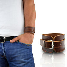 Men's Leather Bracelet brown bracelet stylish real leather MQ25I100 MenQ