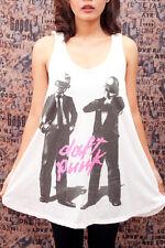 DAFT PUNK Electronic Techno p5 Art Party WOMEN T-SHIRT Tank TOP DRESS Size M L