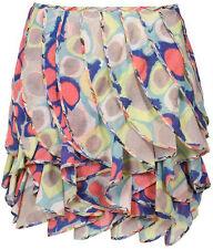 Diane von Furstenberg Ilse Silk Chiffon Ruffle Skirt  10 US