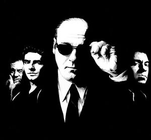 Sopranos Oil Painting, not a print or poster.Framing Avail. Godfather Goodfellas