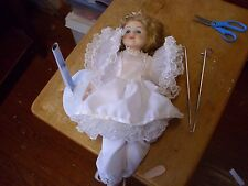 "Allison's Ballerina China (Porcelain) Doll, 16"", With Stand, Could use some Tlc!"