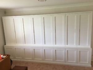 """Kent 4.0"" Integrated Wall Unit Bookshelf Cupboard Living Room Furniture"