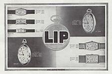 Publicité Montre LIP montres  Watch photo vintage print ad  1930  - 6h