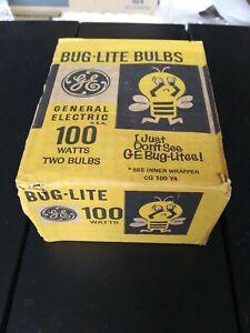 2x GE Bug-Lite Bulbs - 2-pack 100W - **Vintage**