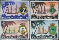 Solomon Islands 1980 SG409-412 Ships and Crests set MNH