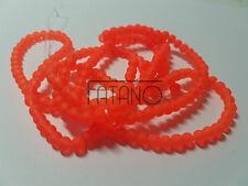 Glasperlen gefrostet 4 mm  orange  200 Stück Kugel Schmuck Basteln Perlen 9077