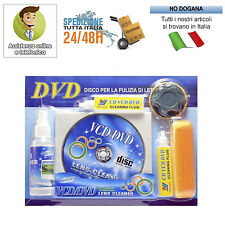 KIT PER PULIZIA DVD VCD PS2 PS3 XBOX LETTORE CD PULISCI LENTE LENS CLEANER