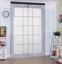 Black String Curtains Patio Net Fringe for Door Fly Screen Windows Room Divider