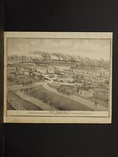 Ohio Trumbel County Map 1874 Engravings, Girard Rolling Mill Co. K4#49