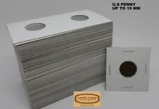 100  2X2 PENNY COIN HOLDER MYLAR FLIPS - CENT 19 mm - HIGH QUALITY #10,020