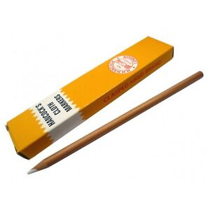 White Hancock's Cloth Marker Pencils - Marking Fabric & Material (Packs 1,2,3,5)