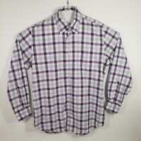 Peter Millar Mens Button Down Shirt Long Sleeve 100% Cotton Size Large Plaid