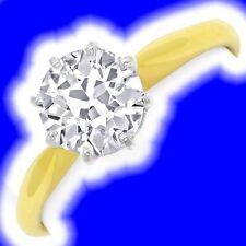 Reinheit VVS Echte Diamanten-Ringe aus mehrfarbigem Gold